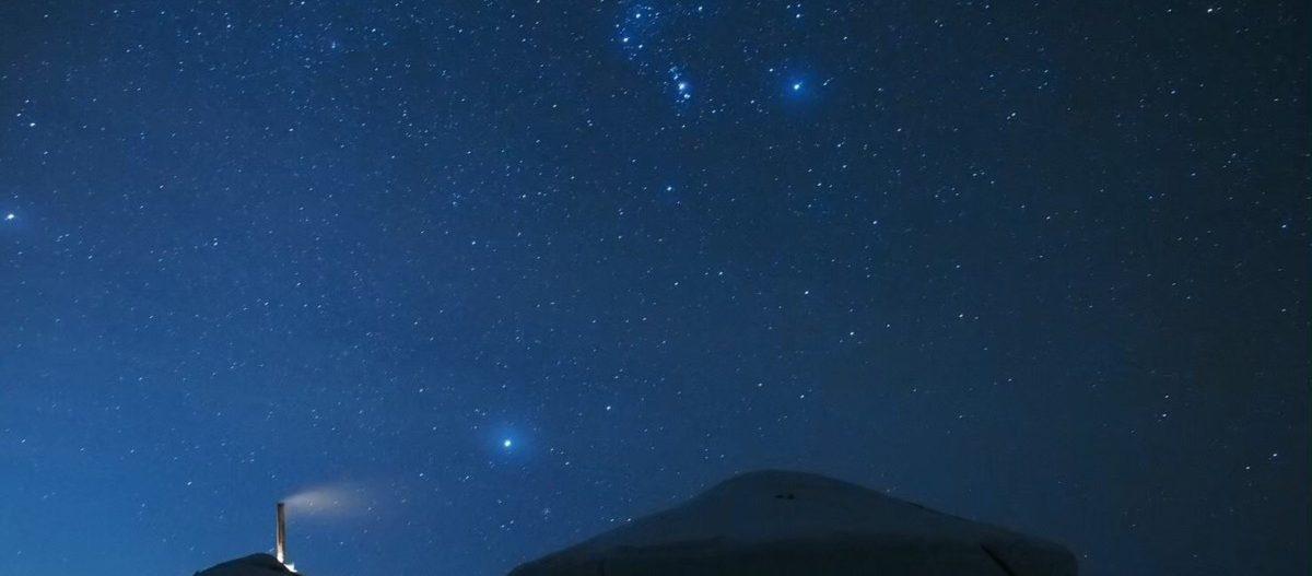 冬のゲルと星