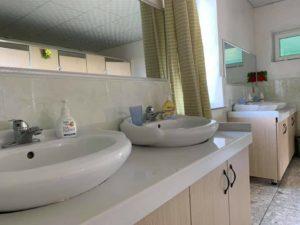 キャンプ洗面室
